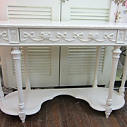 Hand Painted Shabby White Desk Table...Disney Princess Collection...Shabby Chic Distressed.. .