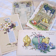 Vintage Easter Postcards Altered Art Scrap Booking Scrapbook