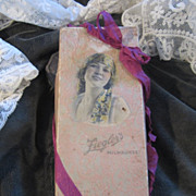 Vintage Lady Box Filled with 1920s Paper Ephemera