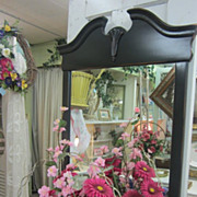 Hand Painted Vintage Mirror...Shabby Distressed Black...FREE Shipping