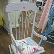 Hand Painted Child Childrens Rocker Rocking Chair FREE Shipping