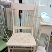 Hand Painted Shabby Chic Pink Chair Distressed Vintage FREE Shipping