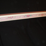 Hand Painted Vintage Sweet Chic HP Wood PEG Shelf Pink ROSES