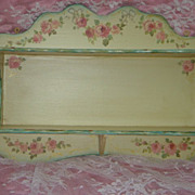 Hand Painted Roses Shelf OAK Shabby Delight FREE Shipping
