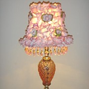 VINTAGE Pink Glass Lamp ~ Chic ROSE Petal Shade