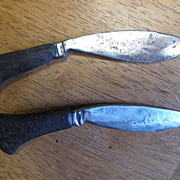 Antique Small Knife set From Nepal Used with a Gurkha Kukri Knife
