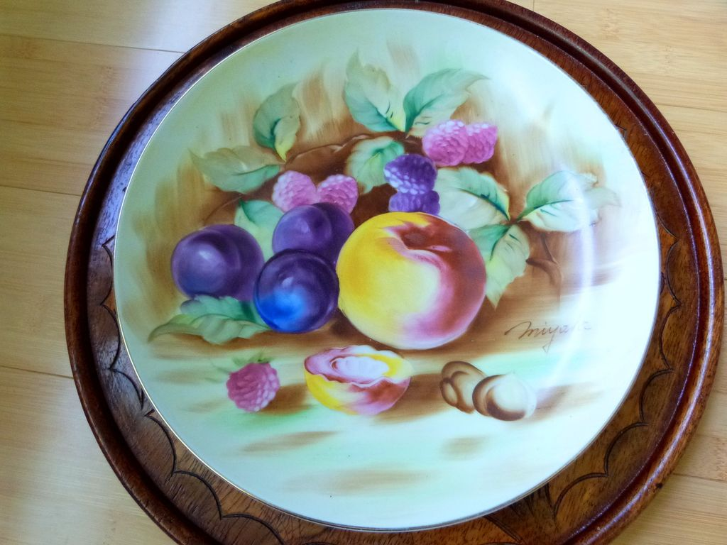 Vintage Occupied Japan Artist Hand Painted Decorative Plate