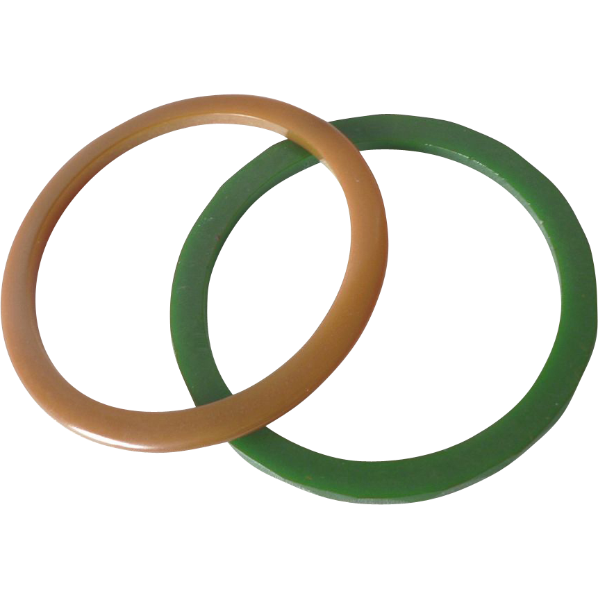 Vintage 1930's Bakelite Bangle Spacer Bracelets