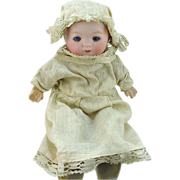 Armand Marseille 7 1/2&quot; Our Pet Bisque Doll #341 With Crier