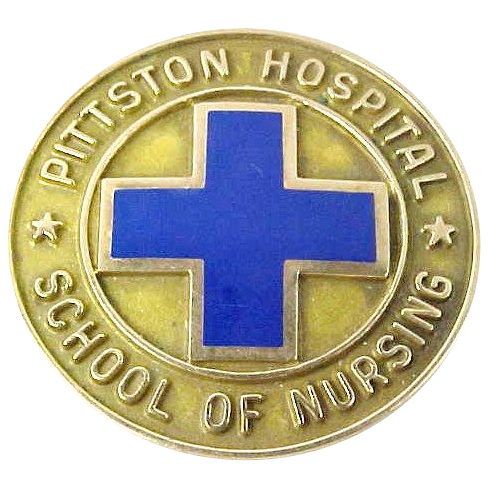 10k Gold Pittston Hospital School of Nursing Pin 1953
