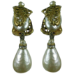 Miriam Haskell 1960 Baroque Faux Pearl Dripping Earrings