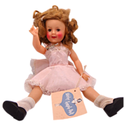 12&quot; Ideal Shirley Temple Doll 1958 Original Slip, Name Tag & Hang Tag