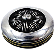 E. R. & Company Sterling Silver Pill Box with Large Daisy on Top