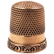 14k Solid Gold Ketcham & McDougal Size 11 Thimble