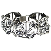 Danecraft With Felch Co. Mark Art Nouveau Style Sterling Silver Bracelet