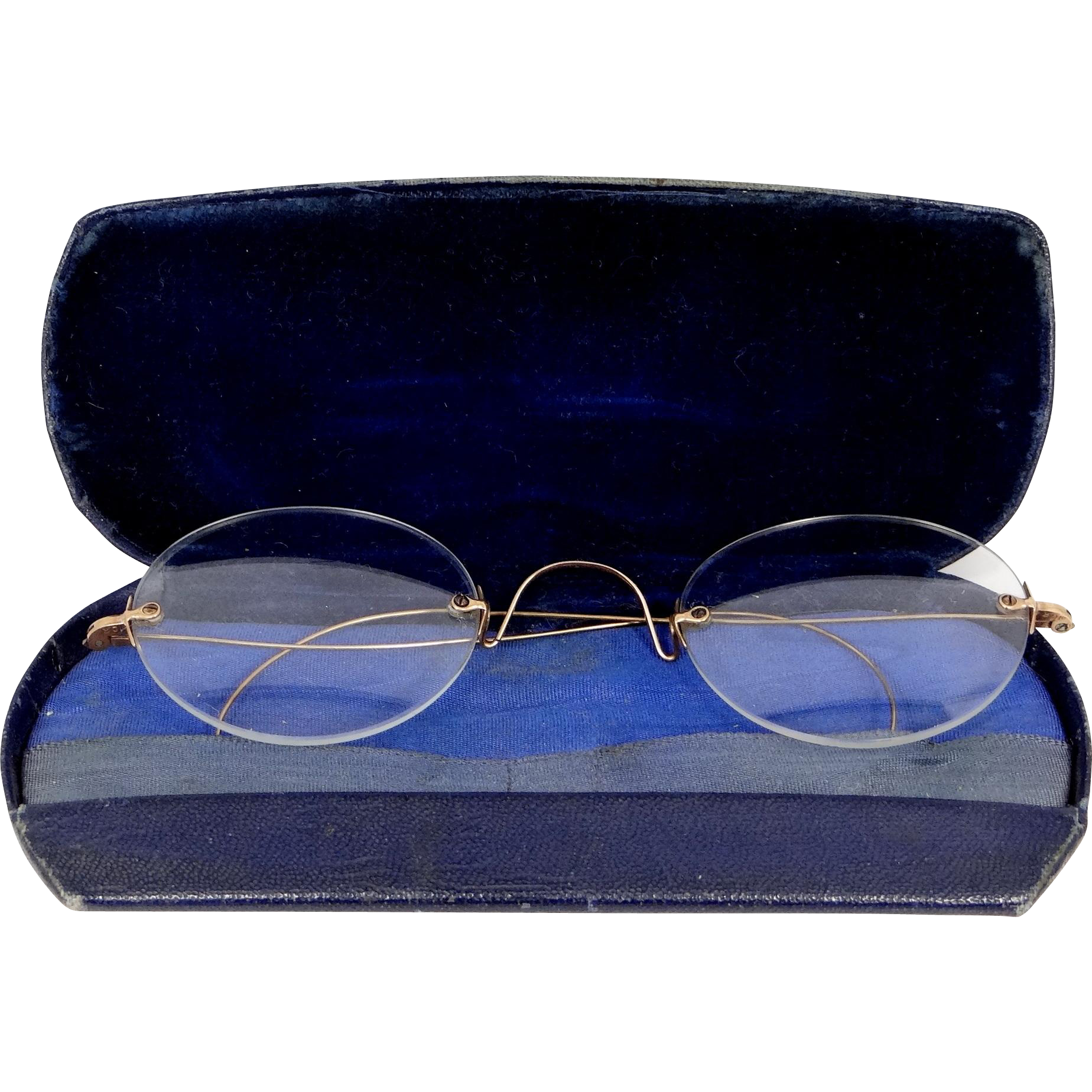10k Gold Antique Eyeglasses with Original Case from mur ...