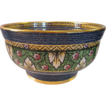 MINTON c1938 Art Deco 'Byzantine'  blue gilded pedestal bowl, Wadsworth, E4567