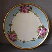 DECORATIVE PORCELAIN: roses luster dish signed Cayley