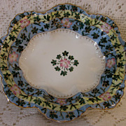 VIENNA PORCELAIN 1920-30's hand gilded dish floral