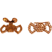 MUSI Shoe Clip  Topaz Austrian Crystal Rhinestones with Gold Plating.