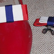 MUSI Shoe Clip � Red/White/Blue Faille for Patriots