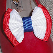SOLD MUSI Shoe Clip � Red/White/Blue Faille for Patriots