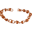 Copper Coiled Bracelet with Self Clasp - 7.5&quot;