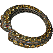 Rina Limor Citrine and Fancy Topaz Clamper/Bangle/Cuff
