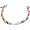 Vermeil Multi-Color Semi-Precious Bracelet  - 6.75""