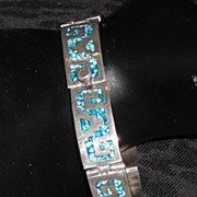 REDUCED Sterling Silver Hinged Bracelet - 7.5""