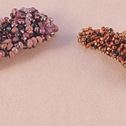 Beaded Barrettes or Modern Dress Clips