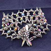 REDUCED Lavender Aurora Czech glass Bracelet with seed beads and daggers.