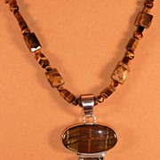 Tigers Eye Necklace with Pendant