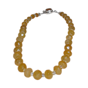 SOLD Honey Chalcedony and Citrine Necklace - Custom #2