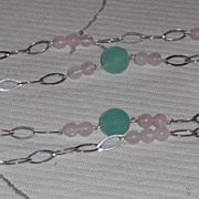 REDUCED Green and Rose Quartz Necklace