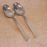 REDUCED South Seas by Community � 2  Silver Plate Tablespoons (Serving Spoon)