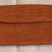 Medium Brown Leather Wallet/Clutch Purse