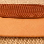 Nude Camel Leather/Medium Brown Snake Wallet/Clutch Purse