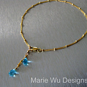 Alluring Apatite~Beaded Gold Fill Anklet Ankle Bracelet~