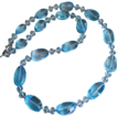 The Ultimate~294ct Swiss Blue Topaz~14K Solid White Gold Necklace~