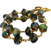 2 Strand-Blue Gold Fire Labradorite 14k Gold Fill Adjustable Bracelet