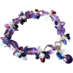 Pink Amethyst-Kyanite-Pink & Blue Sapphire-Tanzanite-Rainbow Moonstone-Rhodolite-Blue Chalcedony-Garnet-Adjustable Sterling Silver Bracelet