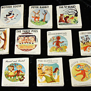 Complete set of 10 Mt Hawley Miniature Children's story books