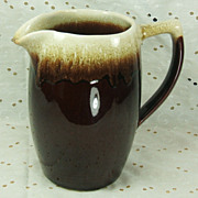 SALE 64 oz Open Mouth Pitcher Vintage Pfaltzgraff Gourmet Brown Drip