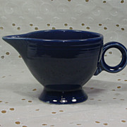 SALE Vintage Fiesta Cobalt Blue Ring Handle Creamer