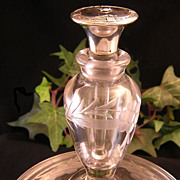 Edwardian Sterling & Glass Combo Perfume Bottle/ Powder Jar