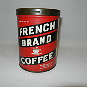 Vintage Advertising French Brand Coffee- 1 Pound Can