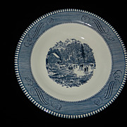 Vintage Currier and Ives Royal China Early Winter Rim Soup
