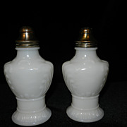 Vintage White Milk Glass Salt & Pepper Shakers