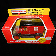 Western Auto 1913 Die Cast Metal Delivery Van Bank  #1328